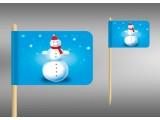 vlaječky sněhulák